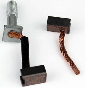 Starter Brushes (2) Nippon Denso Length:12mm Width:9mm Thickness:6mm