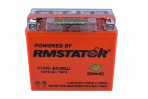 YTX20L-BS 12V 18AH 270 CCA Maintenance Free - Sealed AGM Battery – Built-In Voltage Meter For ATV Motorcycles Snowmobile