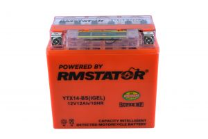 YTX14-BS 12V 12AH 200 CCA Maintenance Free - Sealed AGM Battery – Built-In Voltage Meter For ATV Motorcycles Scooters
